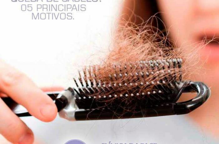 Cinco causas de queda de cabelos